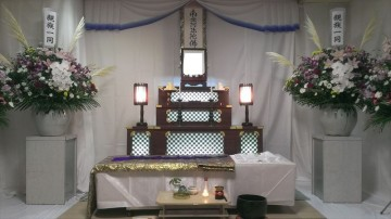 斎場併設式場での家族葬