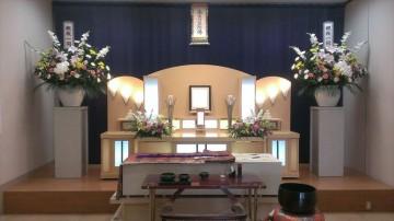 喪主様の到着を待つ葬儀